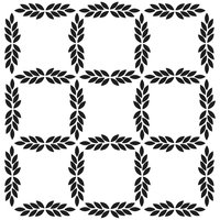 Crafters Workshop TCW6X6-283S Crafters Workshop Templates 6 in. x 6 in-Layered Stars
