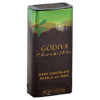 Godiva Dark Chocolate Mint Pearls, 1.5000-ounces (Pack of 6)