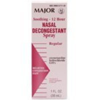 Major Pharmaceuticals Major Nasal Decongestant Nasal Spray 12HR *Compare to Afrin*