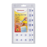 Walgreen's 7 Day Removable Medication Organizer Tray --color Blue