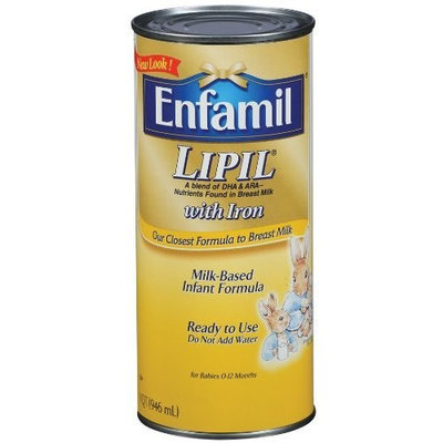 Enfamil Lipil Milk-Based Infant Formula with Iron, Ready-to-Use (Case Pack, Six-1 Quart (946 ml) Cans)