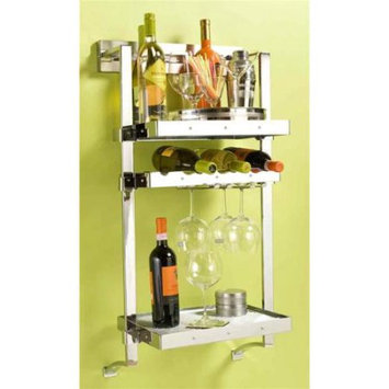 Pegrail 18 in. Wall Mounted Wine Rack (Polished Chrome)