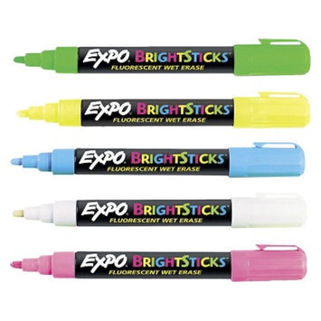 Expo EXPO Bullet Tip Bright Sticks Wet-Erase Fluorescent Marker Set -