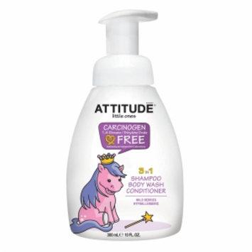 Attitude Little Ones 3 in 1 Shampoo Body Wash Conditioner, Wild Berries, 10 fl oz
