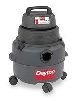 DAYTON 4YE65 Wet/Dry Vacuum, 4.5 HP, 6 gal, 120V