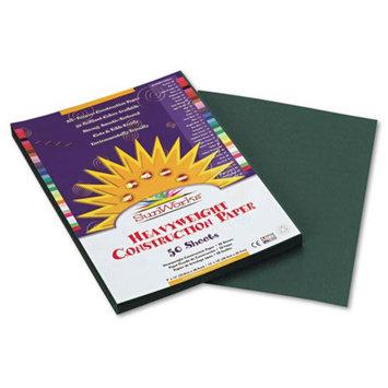 Sunworks SunWorks Construction Paper, Heavyweight, 9 x 12, Dark Green, 50 Sheets