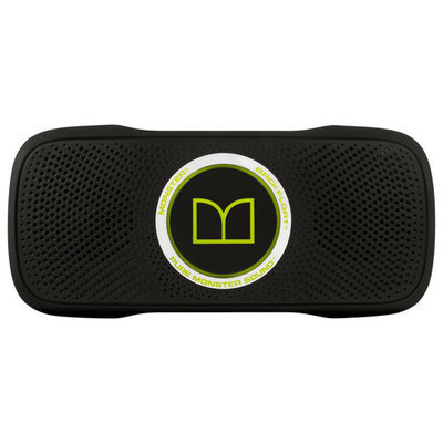 Monster - SuperStar BackFloat Portable Bluetooth Speaker - Black/Neon Green