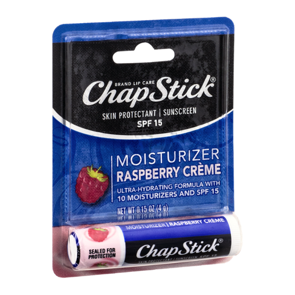 Slide: ChapStick® Skin Protectant / Sunscreen SPF 15 Raspberry Creme