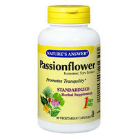 Nature's Answer Passionflower Standardized Herbal Supplement Vegetarian Capsules