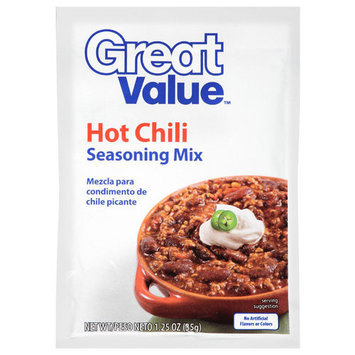 Great Value: Hot Chili Seasoning Mix, 1.25 oz