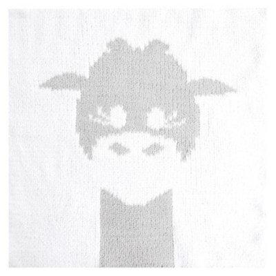Love by Little Giraf LOVE Cloud Knit Giraffe Blanky - Silver