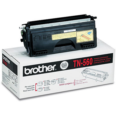 Brother TN560 High-Yield Toner, 6500 Page-Yield, Black