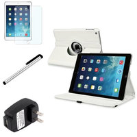 Insten INSTEN White 360 Rotating Leather Case Cover+Protector Pen For Apple iPad Air 5 5th Gen