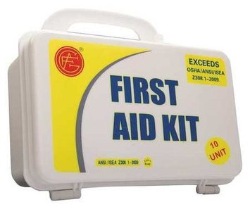 Genuine First Aid Unitized First Aid Kit 10 Unit (Plastic, 3-1/4inH, 9inW, 6inD). Model: 9999-2005