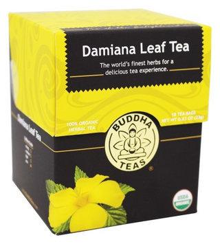 Buddha Teas Damiana Leaf 100 Percent Organic Herbal Tea 18 Bags Per Packet