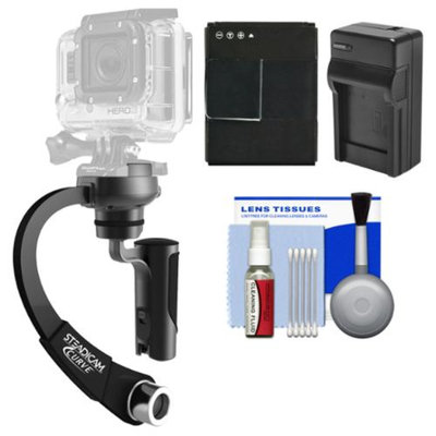 Steadicam Curve Compact Video Camera Stabilizer for GoPro (Black) with HERO3 AHDBT-301 Battery & Charger + Accessory Kit