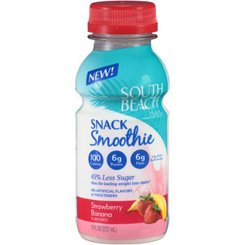 South Beach Diet Strawberry Banana Snack Smoothie