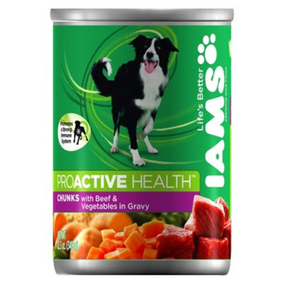 IAMS Iams ProActive Health Adult Chunks with Beef and Vegetables in Gravy