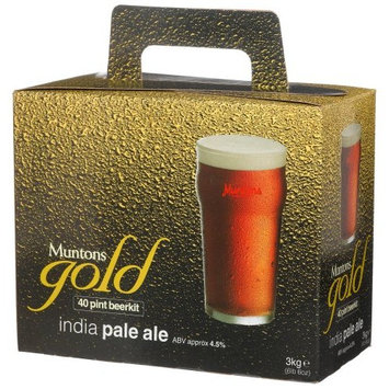 Muntons Gold 40 Pint Beerkit, India Pale Ale, 120-Ounce Box