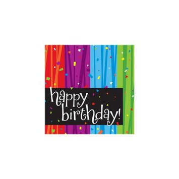 Creative Converting Milestone Celebrations Happy Birthday Lunch Napkins