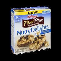 Kellogg's FiberPlus Antioxidants Nutty Delights Peanut & Dark Chocolate Chewy Bars - 5 CT