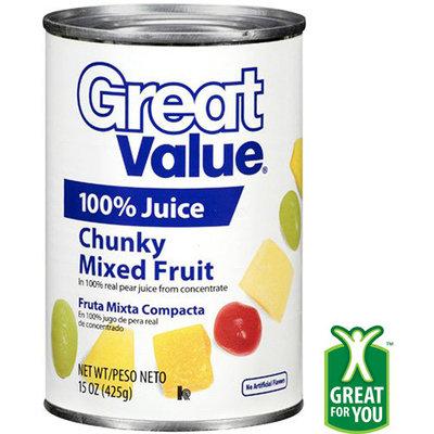 Great Value: Chunky Mixed Fruit, 15 Oz