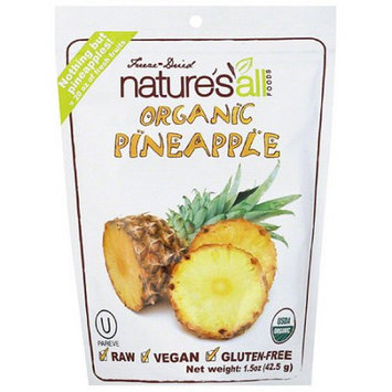 Generic Nature's All Foods Organic Freeze-Dried Pineapple, 1.5 oz, (Pack of 12)