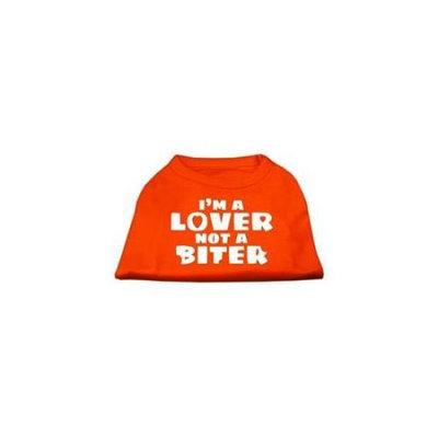 Ahi I'm a Lover not a Biter Screen Printed Dog Shirt Orange XXXL (20)