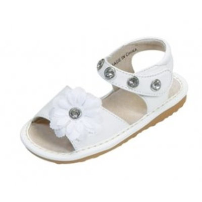 Squeak Me Shoes White Rhinestone - Size 5