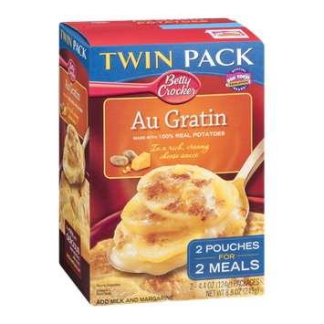 Betty Crocker Twin Pack Real Potatoes Au Gratin 2 Pouches For 2 Meals - 2 PK
