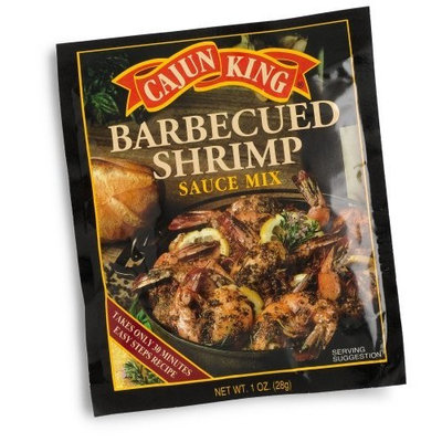 Cajun King Barbecued Shrimp Seasoning Mix, 1-Ounce Packages (Pack of 24)