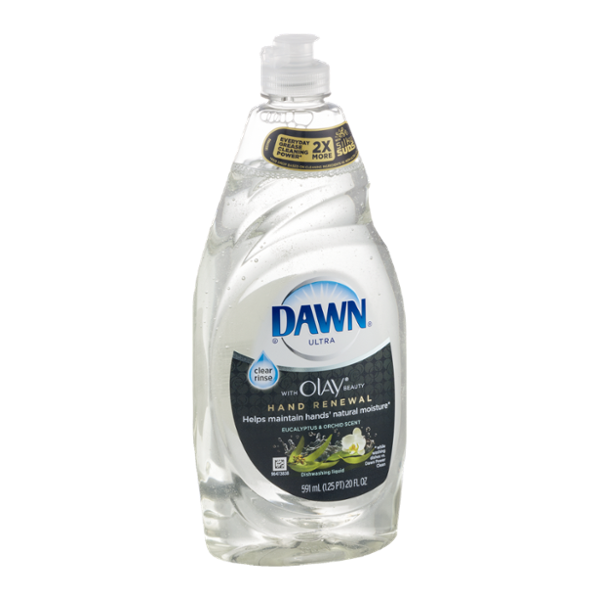Dawn Ultra with Olay Beauty Hand Renewal Dishwashing Liquid Eucalyptus & Orchid Scent