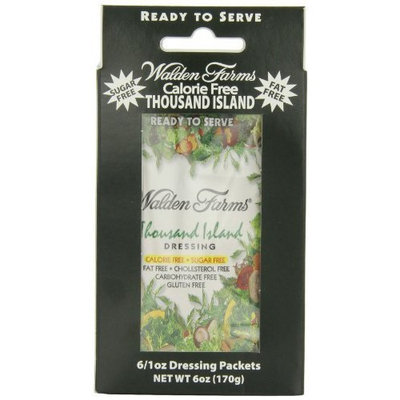 Walden Farm Salad Dressing, 1000 Island, 6 Count- - Six 1 oz. packets per box