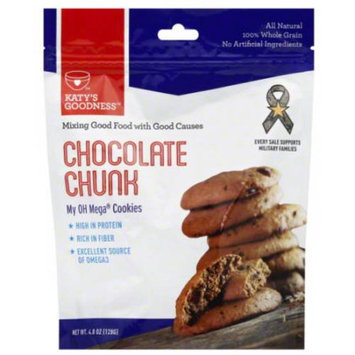 Katy's Goodness Chocolate Chunk Cookies, 4.8 oz (Pack of 6)