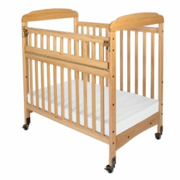 Child Craft Bella Professional Child Care SafeAccess Compact Crib, Clearview Ends, Natural, 1 ea