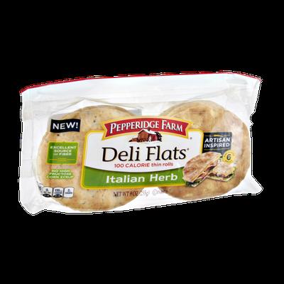 Pepperidge Farm® Deli Flats Artisan Inspired Italian Herb Pre-sliced Rolls
