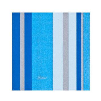 King Zak Ind Lillian Tablesettings 22335 Blue Stripe Beverage Napkin - 960 Per Case
