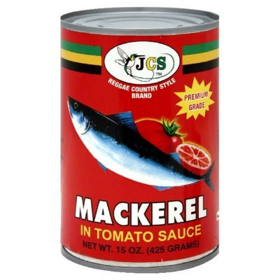 Jcs Mackerel Fish in Tomato Sauce, 15-Ounce (Pack of 24)