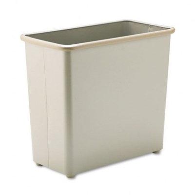 Safco Fire-Safe Wastebasket, Rectangular, Steel