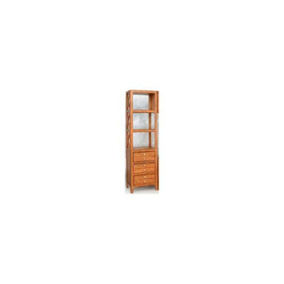 Lifestyle California Chatsworth 3 Shelf Left Audio Pier Cabinet in Pecan Finish