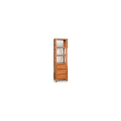 Lifestyle California Chatsworth 3 Shelf Left Audio Pier Cabinet in Pecan Finish
