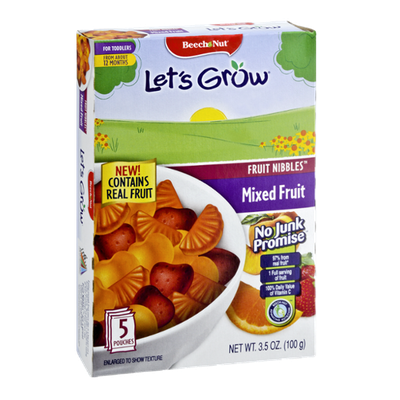 Beech-Nut® Let's Grow Mixed Fruit Fruit Nibble