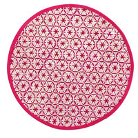 Country Living Kitsch Pink Circle Star Placemat - IDEA NUOVA, INC.