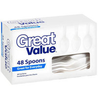 Great Value Everyday Spoons, 48 count