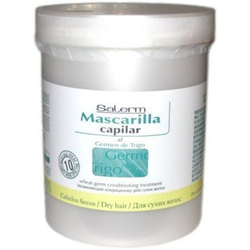 Salerm Mascarilla Capilar Wheat Germ Conditioning Treatment Mask, 33.7 oz / liter
