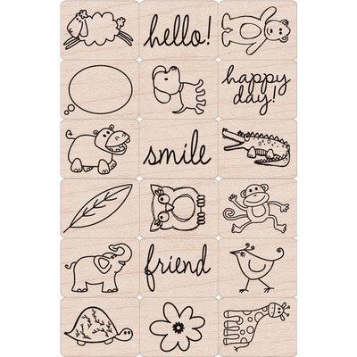 Hero Arts Ink 'n Stamp Tub-Happy Animals
