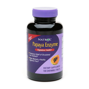 Natrol Papaya Enzyme Dietary Supplement Chewable Tablets