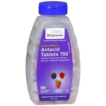 Walgreens Extra Antacid 750 mg Chewable Tablets