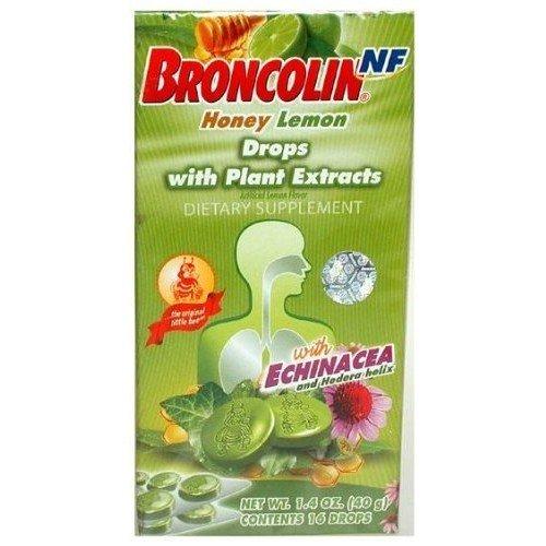 Broncolin Drops Honey Eucalyptus 1.4 oz - Gotas Miel Y Heucalipto