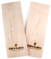 Fire & Flavor Gourmet Grilling Planks, Maple, 2-count Packages (pack